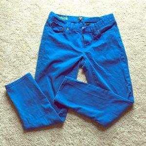 J.Crew Factory Toothpick Skinny Jeans Bright Blue